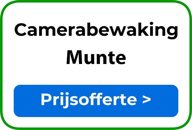 Camerabewaking in Munte